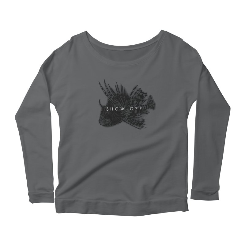 lion stripes Women's Scoop Neck Longsleeve T-Shirt by joe's shop