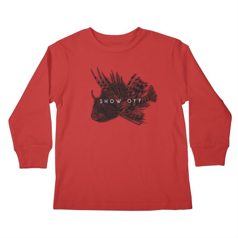 lion stripes Kids Longsleeve T-Shirt by joe's shop