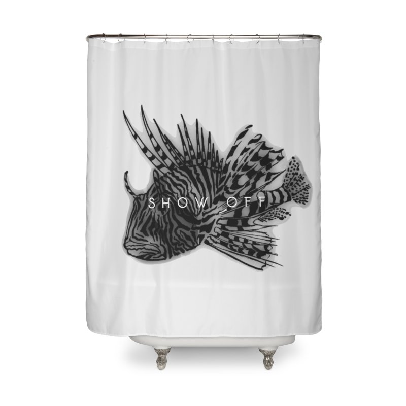 lion stripes Home Shower Curtain by joe's shop