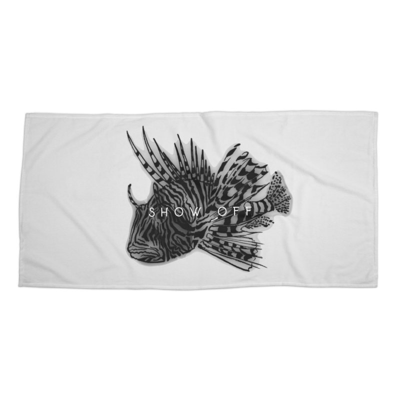 lion stripes Accessories Beach Towel by joe's shop
