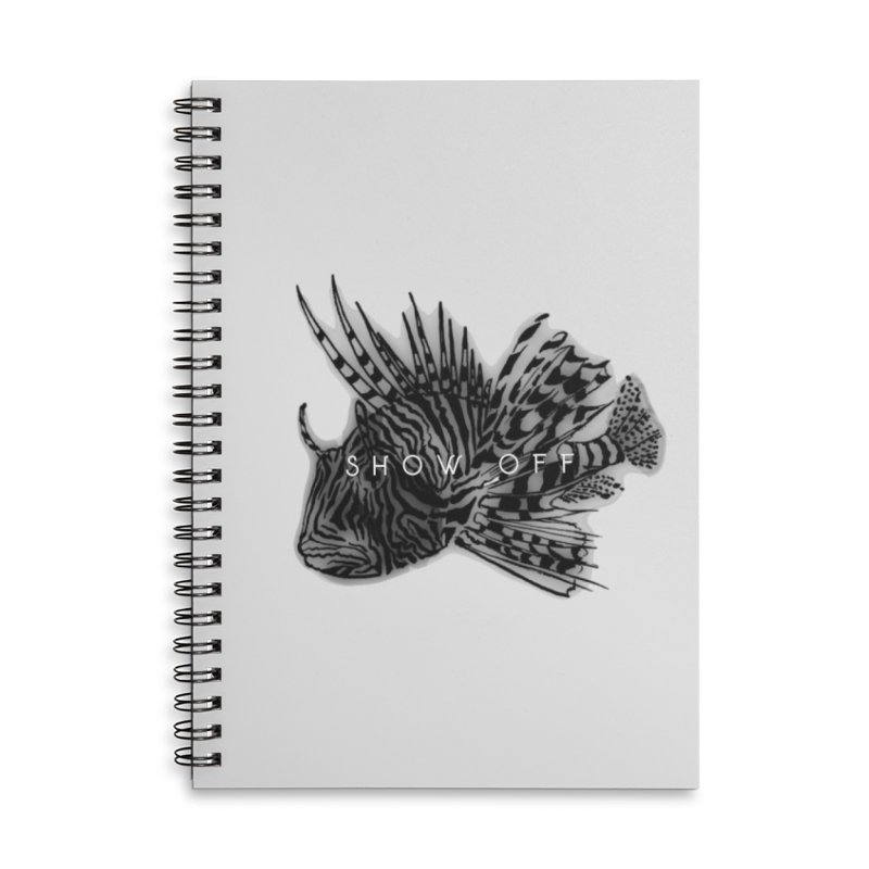 lion stripes Accessories Lined Spiral Notebook by joe's shop