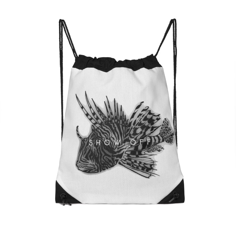 lion stripes Accessories Drawstring Bag Bag by joe's shop