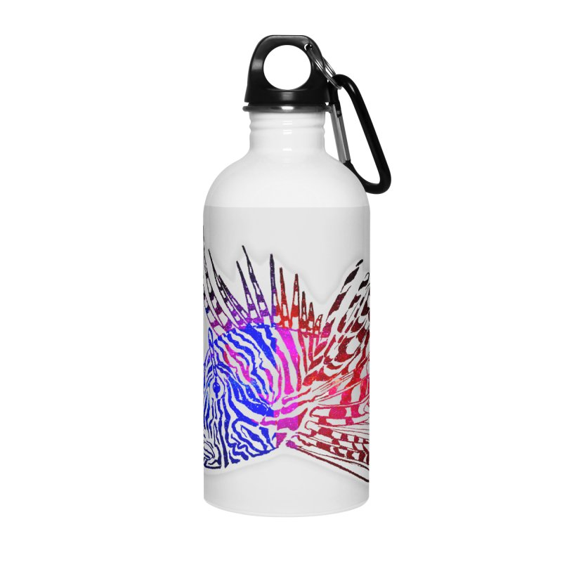 spaced lionfish Accessories Water Bottle by joe's shop