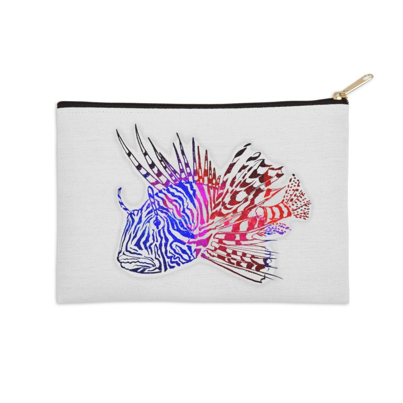 spaced lionfish Accessories Zip Pouch by joe's shop