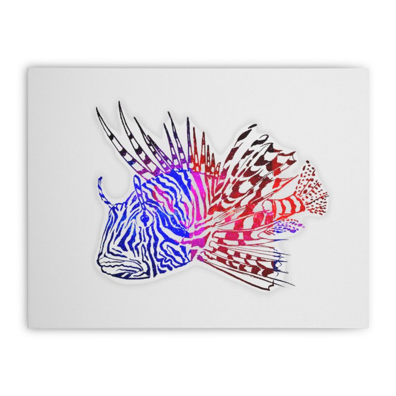 spaced lionfish Home Stretched Canvas by joe's shop
