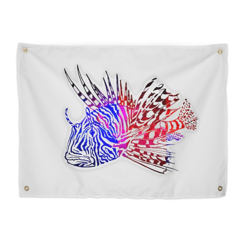spaced lionfish Home Tapestry by joe's shop