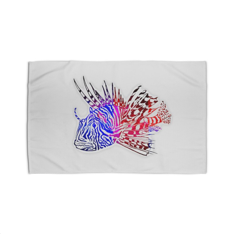 spaced lionfish Home Rug by joe's shop