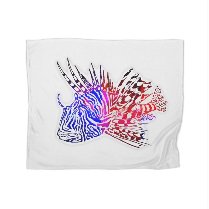 spaced lionfish Home Blanket by joe's shop