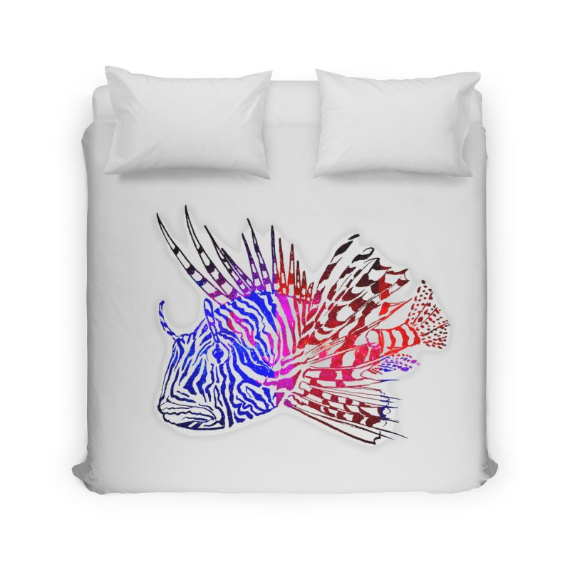 spaced lionfish Home Duvet by joe's shop