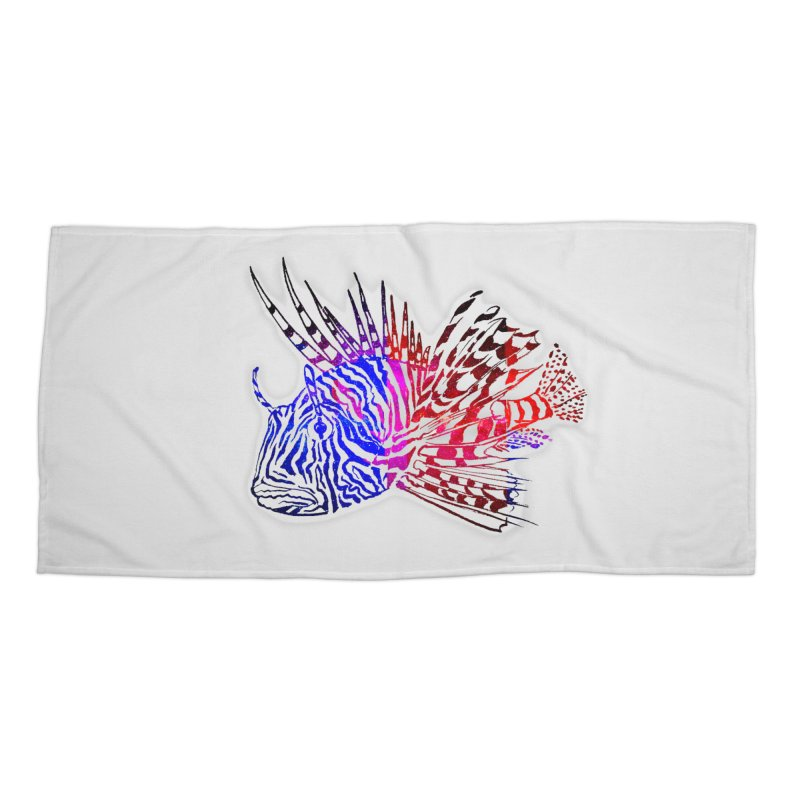 spaced lionfish Accessories Beach Towel by joe's shop