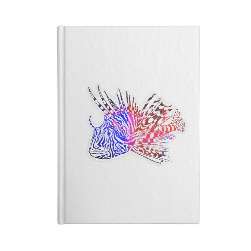 spaced lionfish Accessories Blank Journal Notebook by joe's shop
