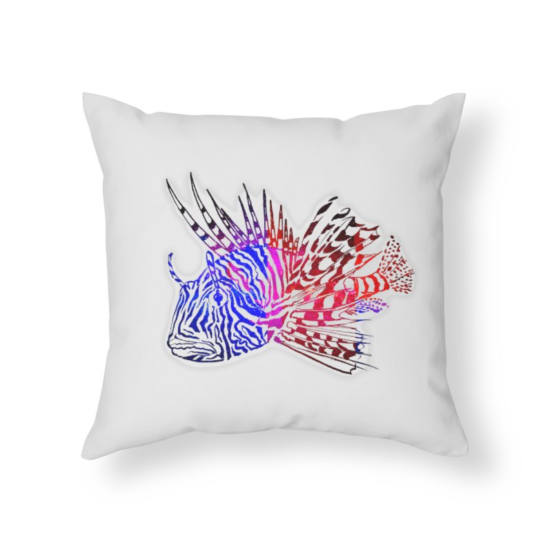 spaced lionfish Home Throw Pillow by joe's shop