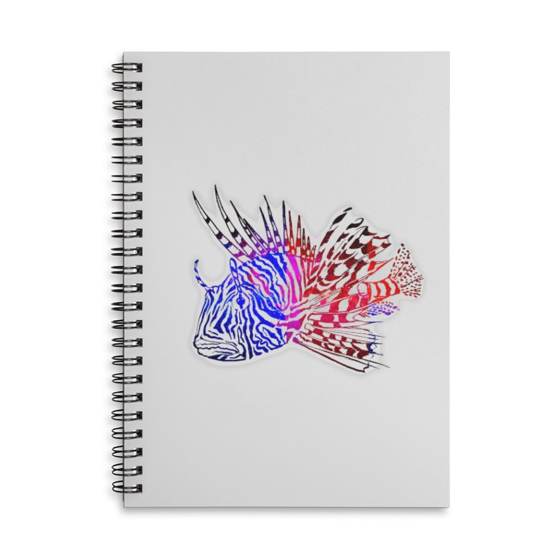 spaced lionfish Accessories Lined Spiral Notebook by joe's shop