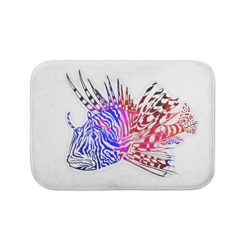 spaced lionfish Home Bath Mat by joe's shop
