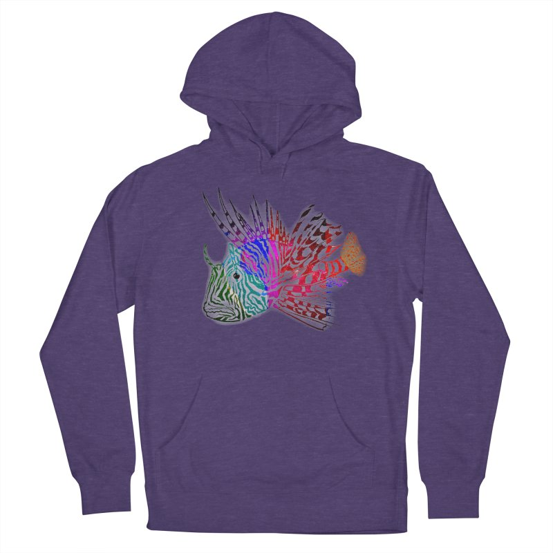 spaced lionfish Women's French Terry Pullover Hoody by joe's shop