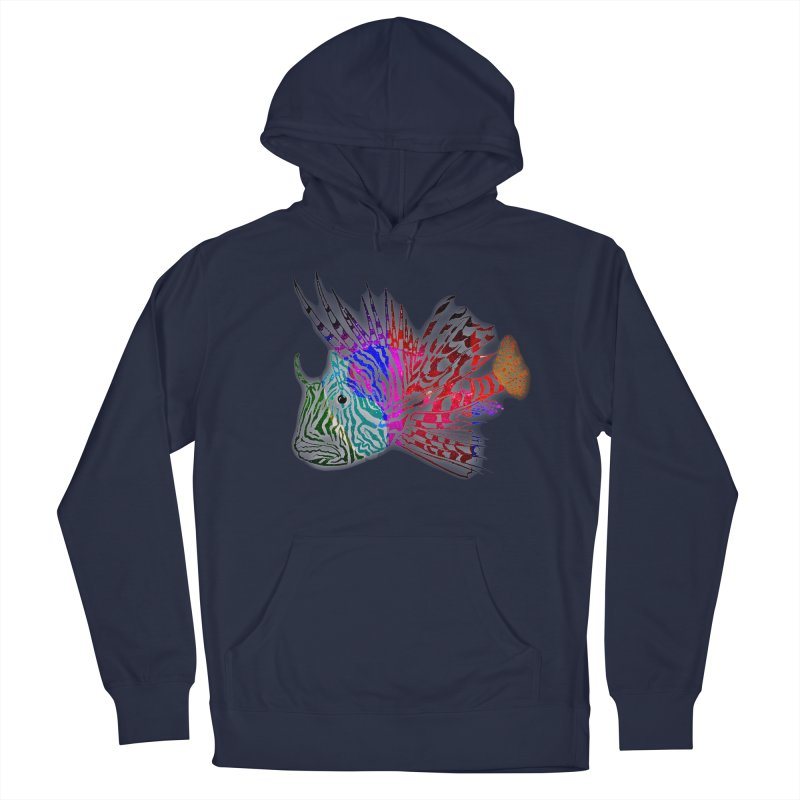 spaced lionfish Men's French Terry Pullover Hoody by joe's shop