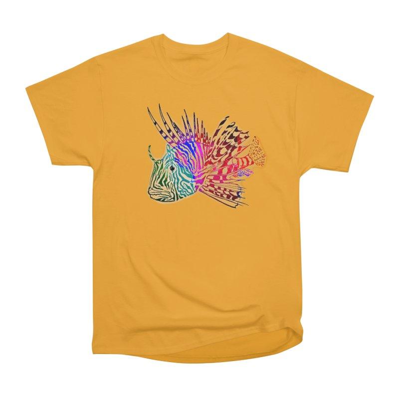 spaced lionfish Women's Heavyweight Unisex T-Shirt by joe's shop