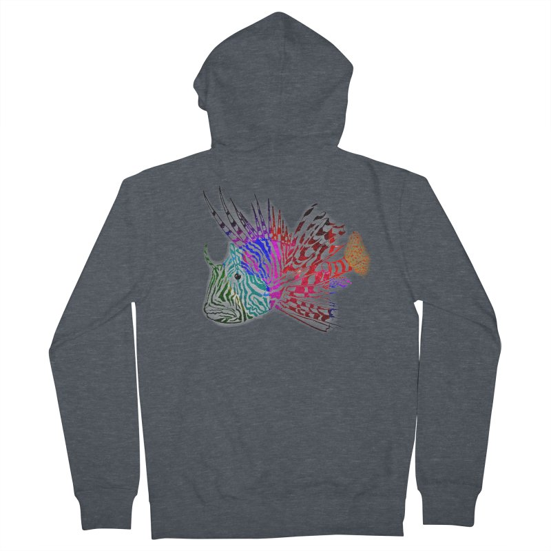 spaced lionfish Men's French Terry Zip-Up Hoody by joe's shop