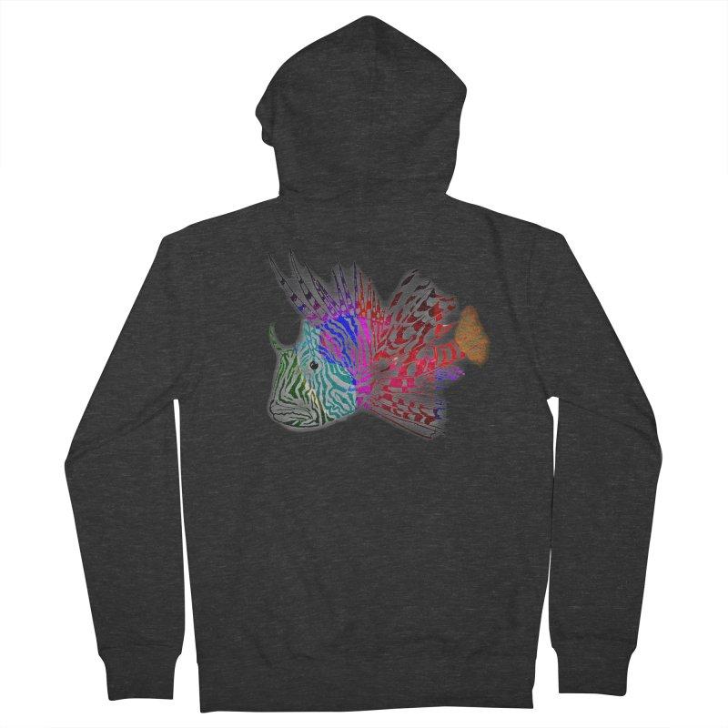 spaced lionfish Men's Zip-Up Hoody by joe's shop
