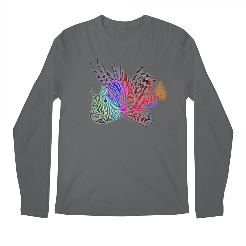spaced lionfish Men's Regular Longsleeve T-Shirt by joe's shop