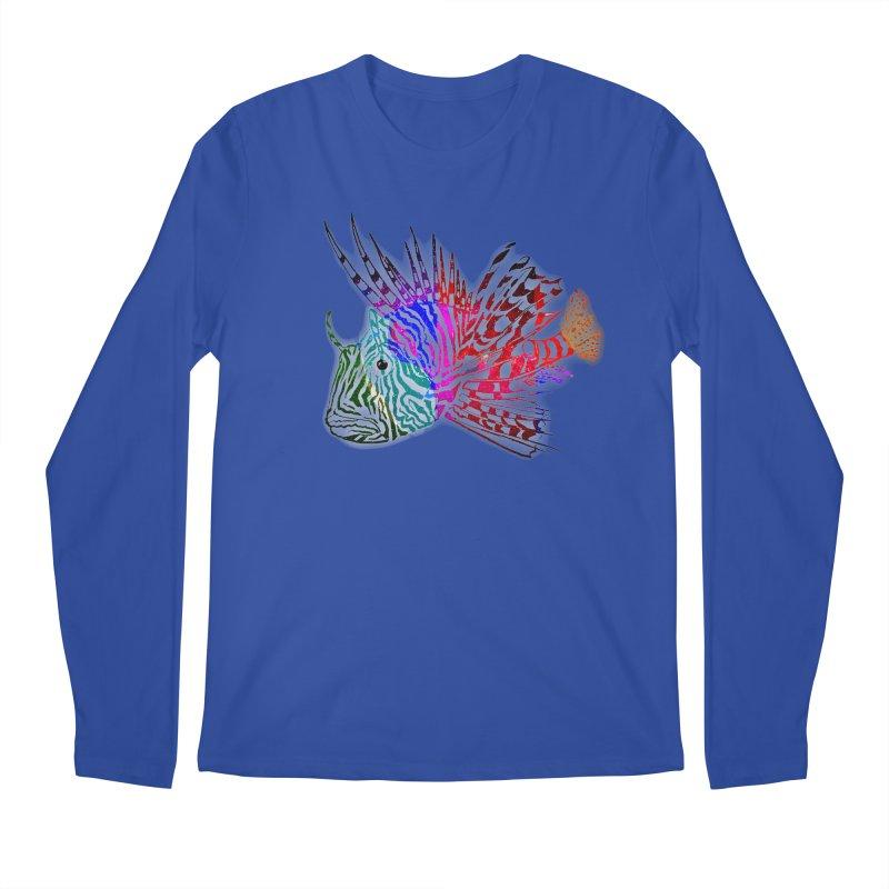 spaced lionfish Men's Regular Longsleeve T-Shirt by joe's shop
