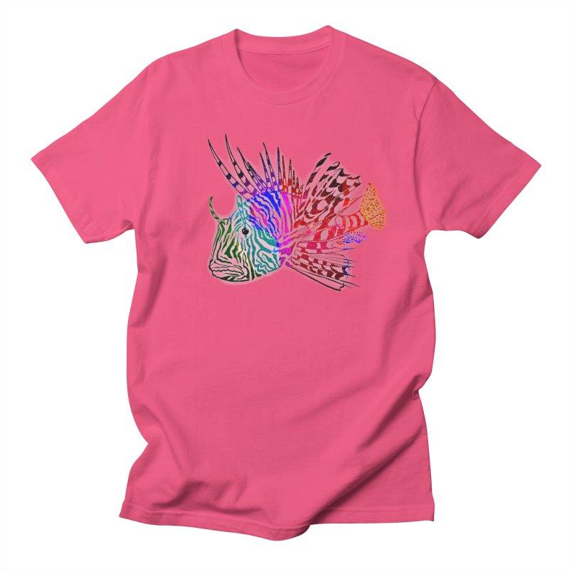 spaced lionfish Men's Regular T-Shirt by joe's shop