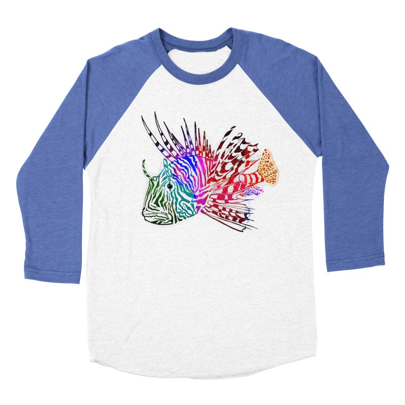 spaced lionfish Women's Baseball Triblend Longsleeve T-Shirt by joe's shop