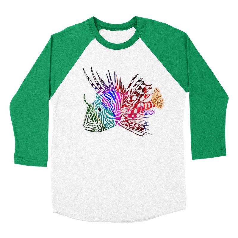 spaced lionfish Women's Baseball Triblend Longsleeve T-Shirt by joe's shop