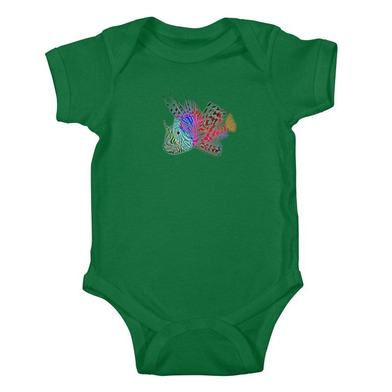 spaced lionfish Kids Baby Bodysuit by joe's shop