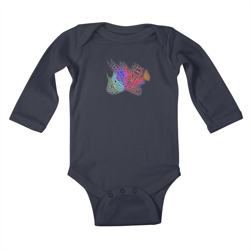 spaced lionfish Kids Baby Longsleeve Bodysuit by joe's shop