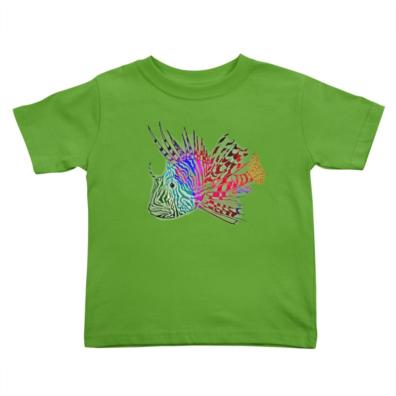 spaced lionfish Kids Toddler T-Shirt by joe's shop