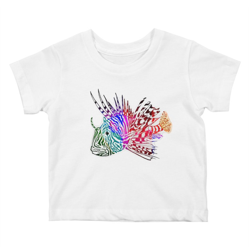 spaced lionfish Kids Baby T-Shirt by joe's shop