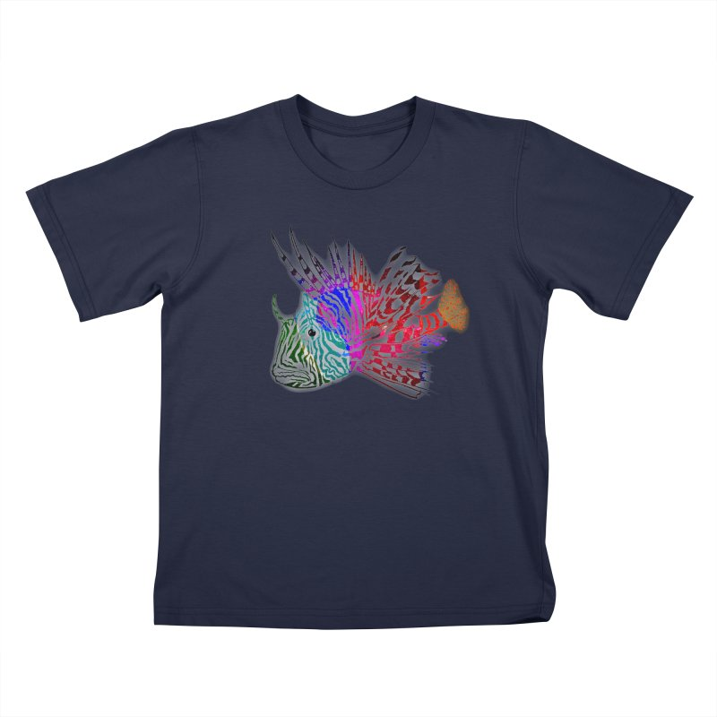 spaced lionfish Kids T-Shirt by joe's shop