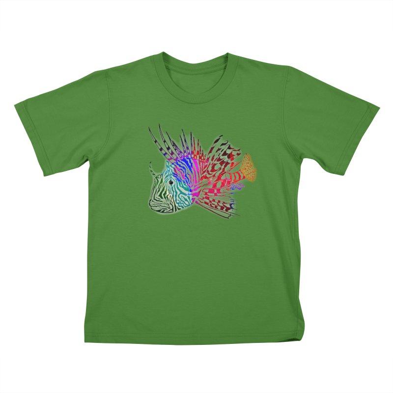 spaced lionfish Kids T-Shirt by joe's shop