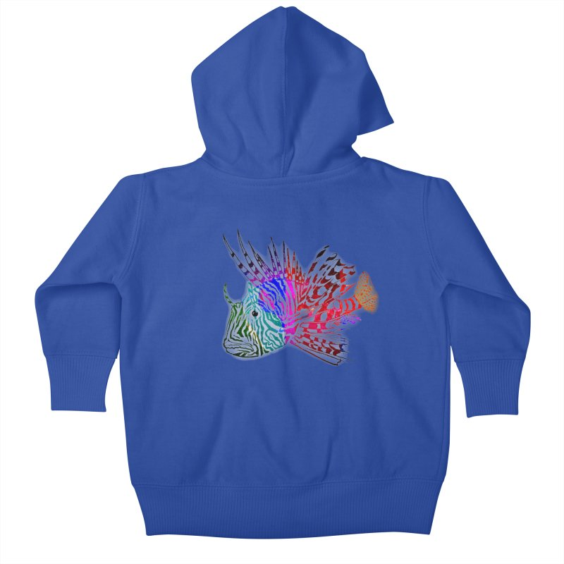 spaced lionfish Kids Baby Zip-Up Hoody by joe's shop