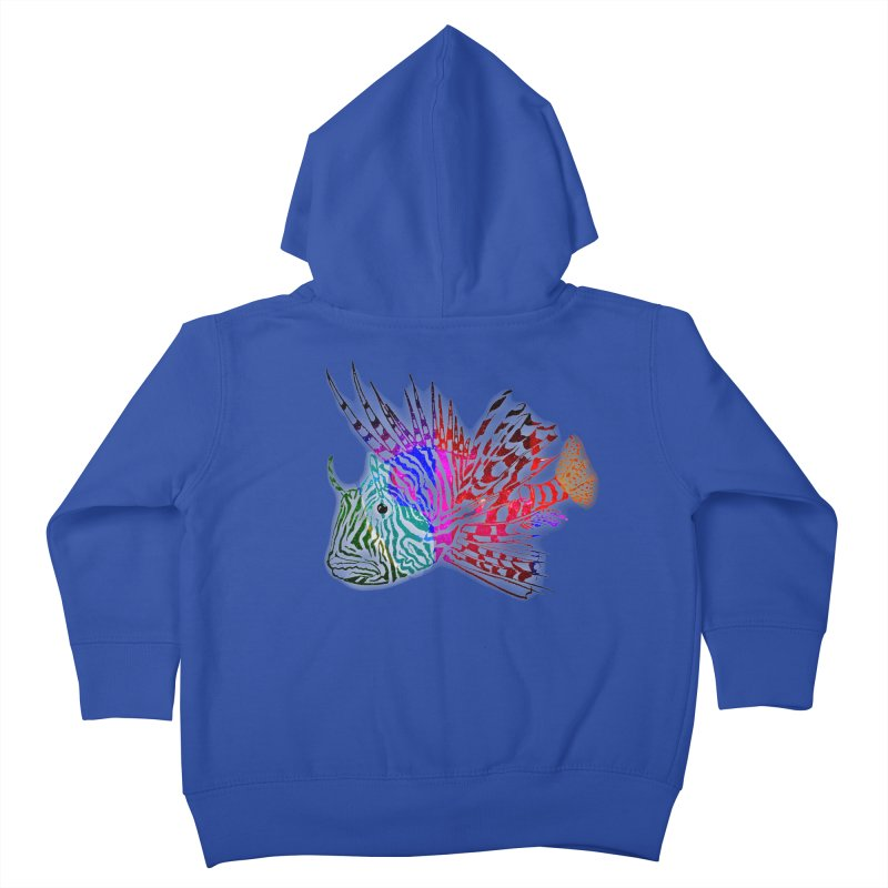 spaced lionfish Kids Toddler Zip-Up Hoody by joe's shop