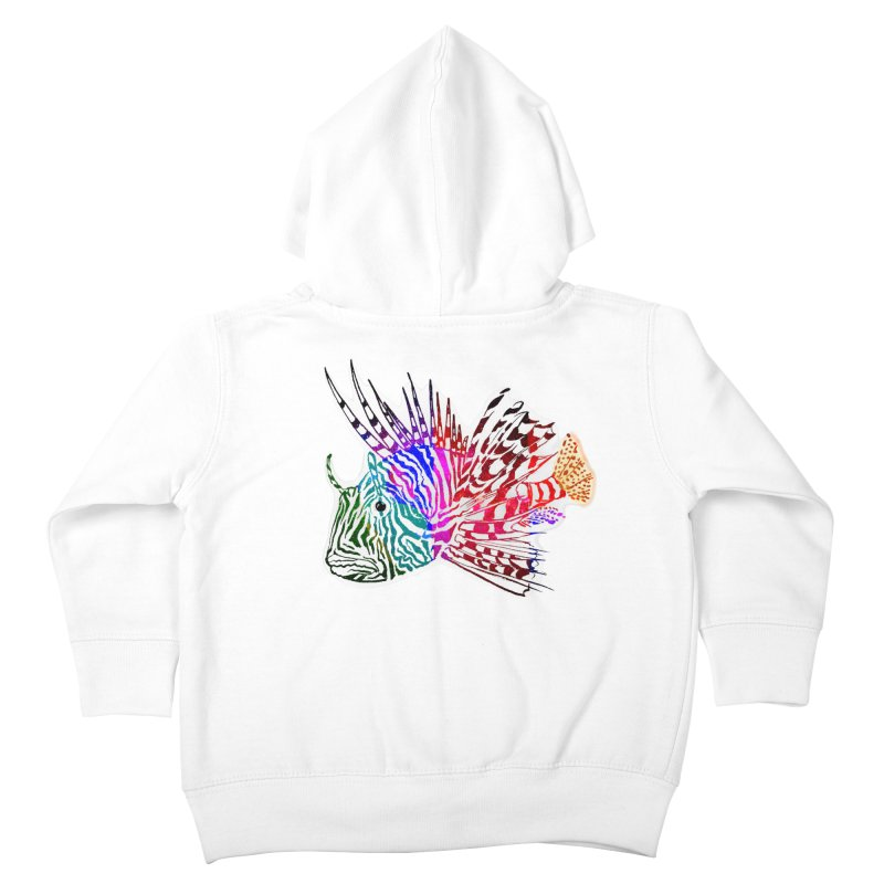spaced lionfish Kids Toddler Zip-Up Hoody by joe's shop