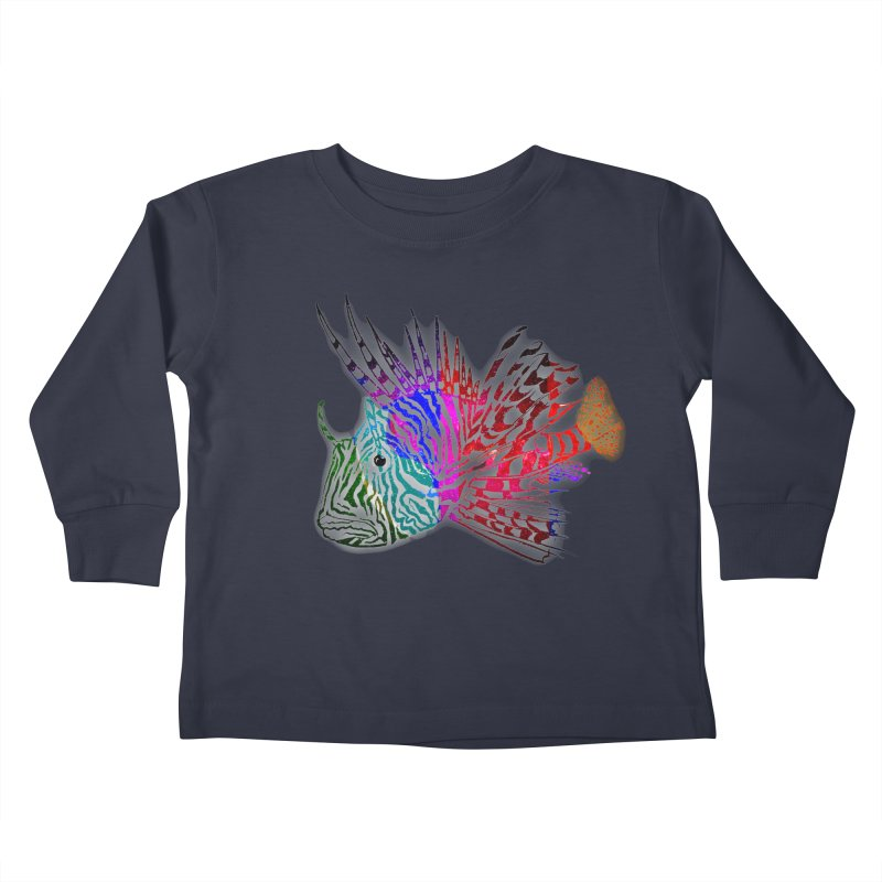 spaced lionfish Kids Toddler Longsleeve T-Shirt by joe's shop
