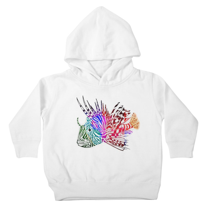 spaced lionfish Kids Toddler Pullover Hoody by joe's shop