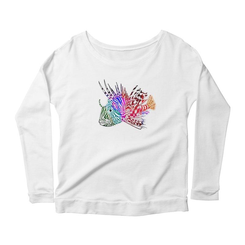 spaced lionfish Women's Longsleeve Scoopneck  by joe's shop