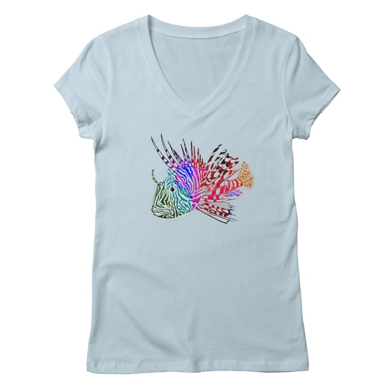 spaced lionfish Women's Regular V-Neck by joe's shop