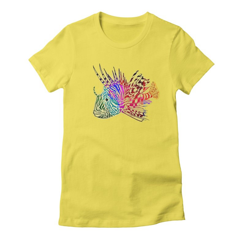 spaced lionfish Women's Fitted T-Shirt by joe's shop