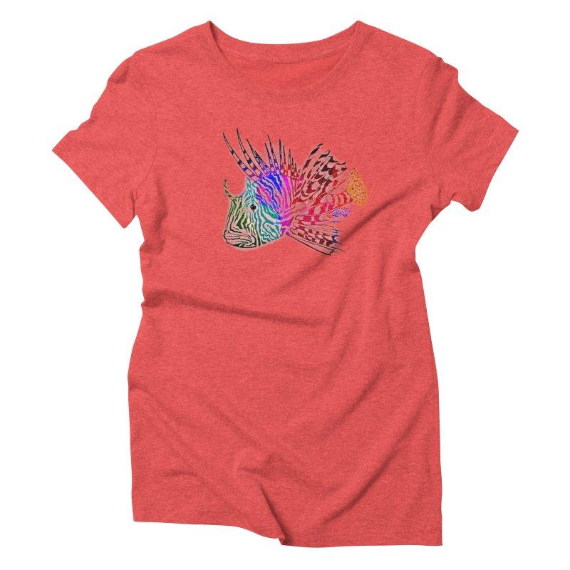 spaced lionfish Women's Triblend T-Shirt by joe's shop