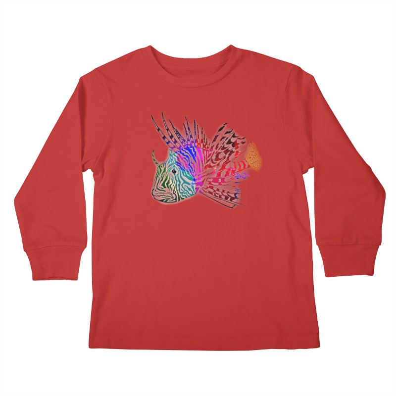 spaced lionfish Kids Longsleeve T-Shirt by joe's shop