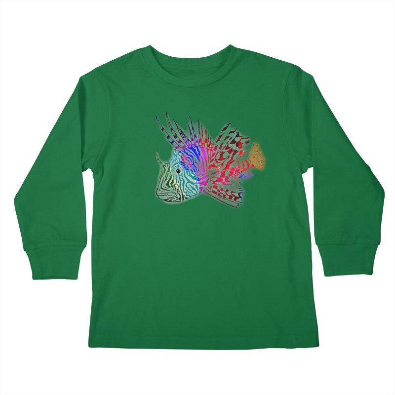 spaced lionfish Kids Longsleeve T-Shirt by joe's shop