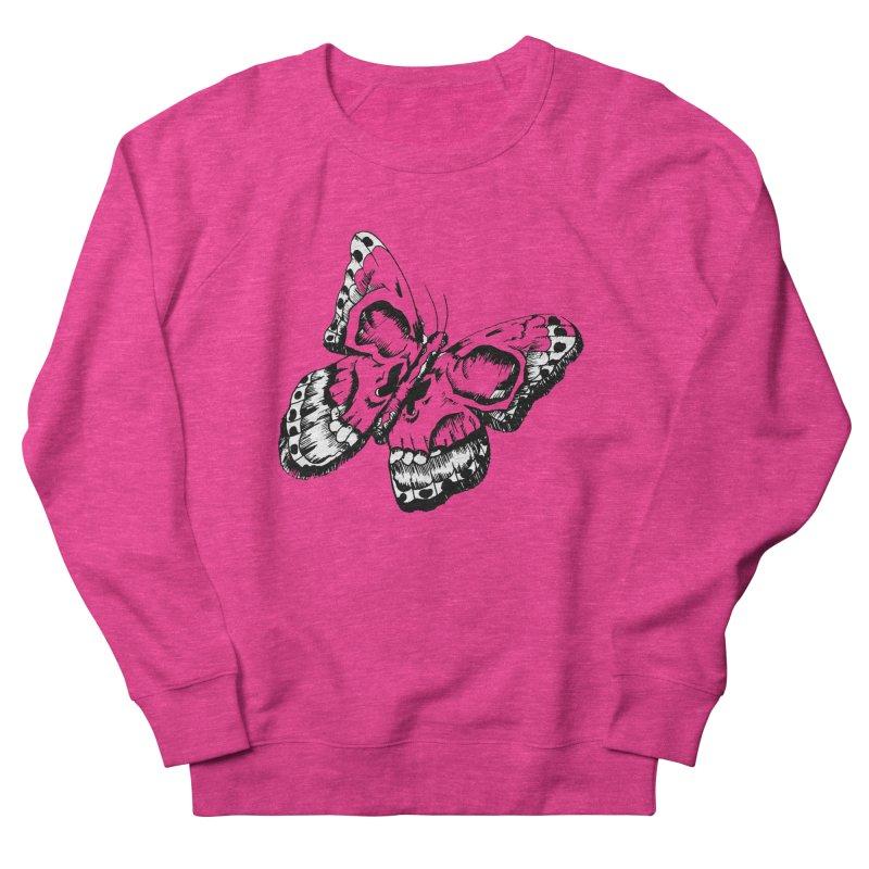 death flutterby Women's French Terry Sweatshirt by joe's shop