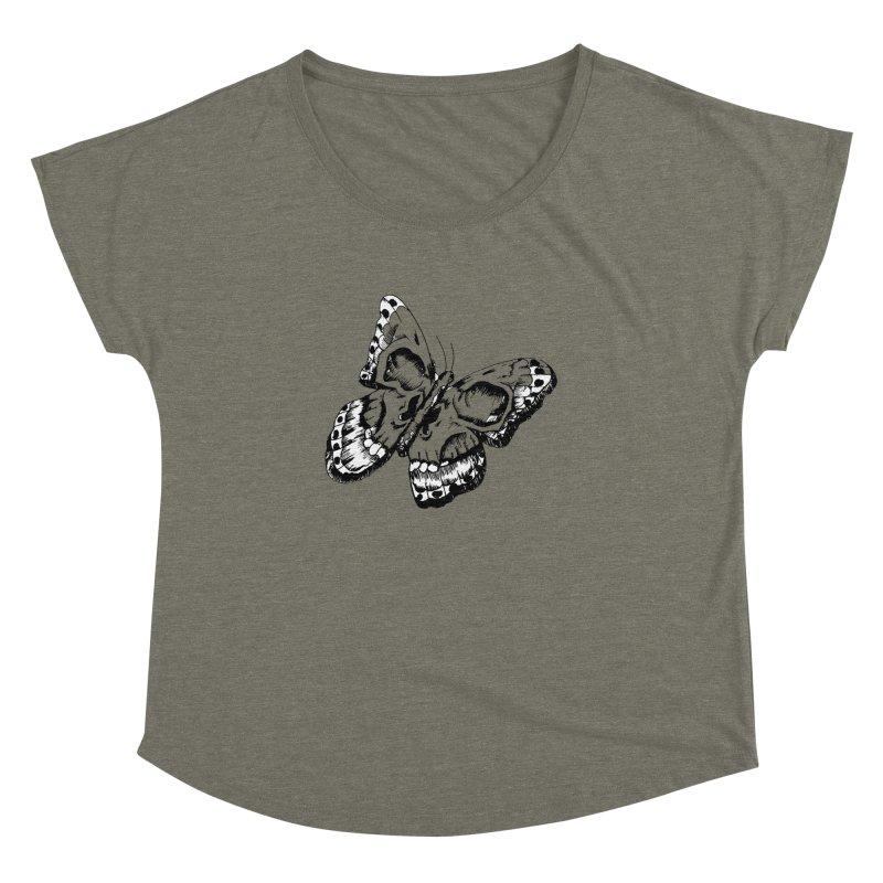 death flutterby Women's Dolman Scoop Neck by joe's shop
