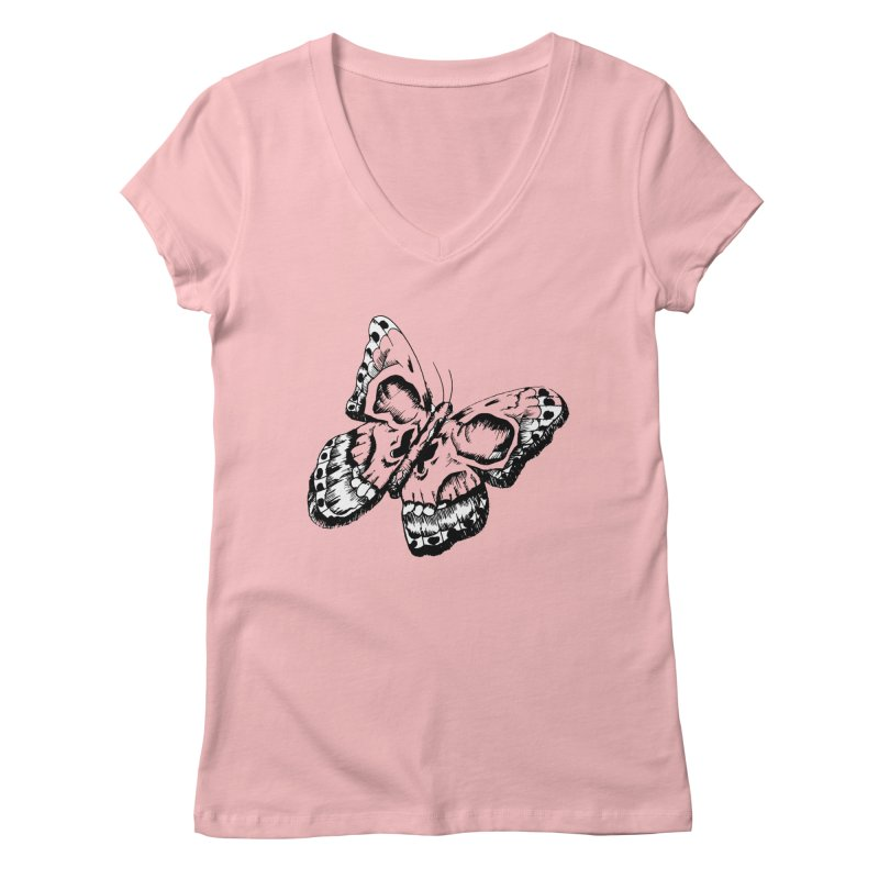 death flutterby Women's Regular V-Neck by joe's shop