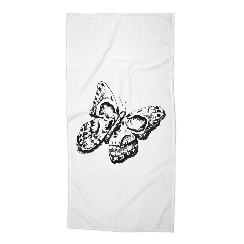 death flutterby Accessories Beach Towel by joe's shop
