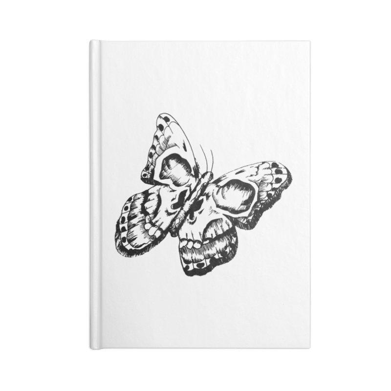 death flutterby Accessories Lined Journal Notebook by joe's shop
